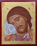 Buon Pastore - Icona scritta a mano  da Sr Maria Guadalupe