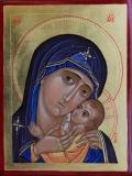 Madonna con Bambino  - Icona scritta a mano  da Sr Maria Guadalupe